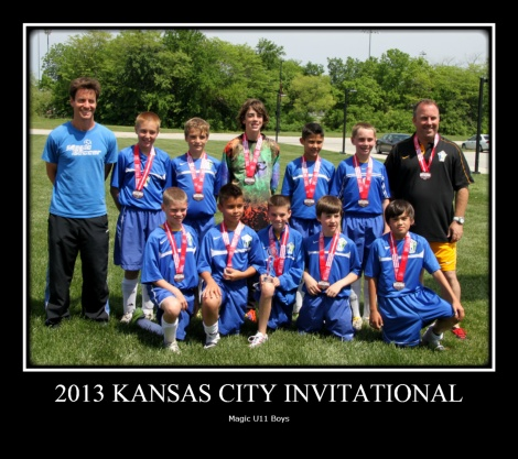 U11 Boys 2013 Spring League undefeated champs, Springfield Tournament semi-finalists, Kansas City Invitational finalists!