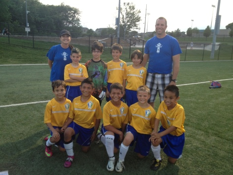 U9 Boys currently 1st place and undefeated in Spring league, Kansas City Invitational Finalists!